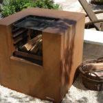 Corten-Stahl-Feuerstelle und Grill