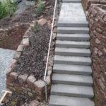 treppenanlage sandsteinmauer