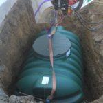 regenwasserbewirtschaftung, Einbau einer Zisterne
