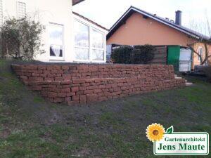 Natursteinmauer - Trockenmauer - Sandsteinmauer - Niederwweimarer Sandstein
