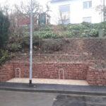 Mauer Trockenmauer aus Sandsteinen