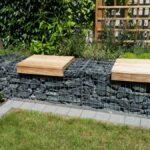 Mauerbau-Gabionenmauer-Sitzauflager