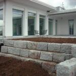Mauer Trockenmauer aus Granit
