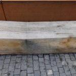 Pflaster-Holz-Corten-Stahl