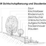 strauchpflanzung bepflanzung pflanzkonzept