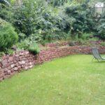 Mauerbau Trockenmauer Niederweimarer Sandstein Maute Marburg