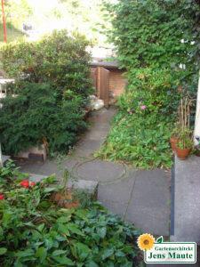 Vorgarten vor der Umgestaltung
