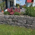 Mauer Trockenmauer aus Basalt