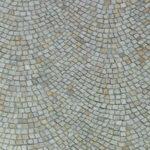 Pflasterfläche Naturstein Segmentbogenpflaster