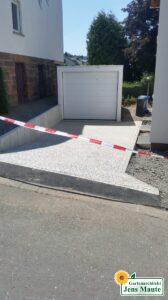 Herstellen einer Garagen-Zufahrt - Nachher